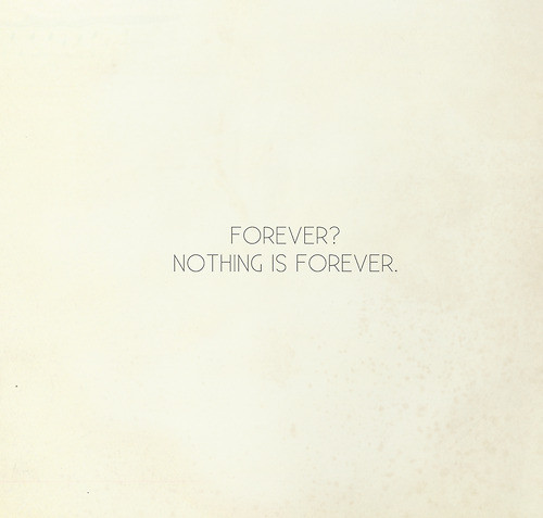 Nothing Is Forever Quotes Quotesgram