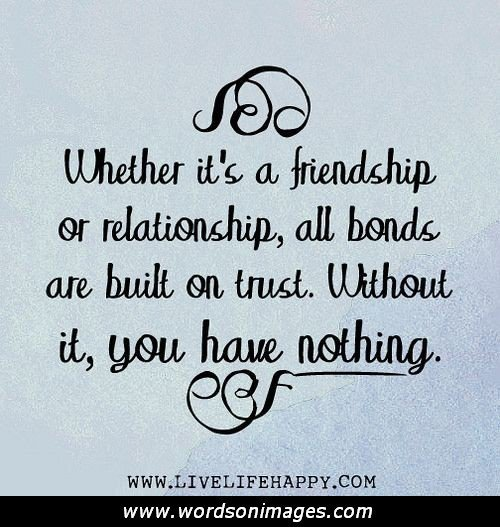 Who To Trust Quotes About Friendship. QuotesGram