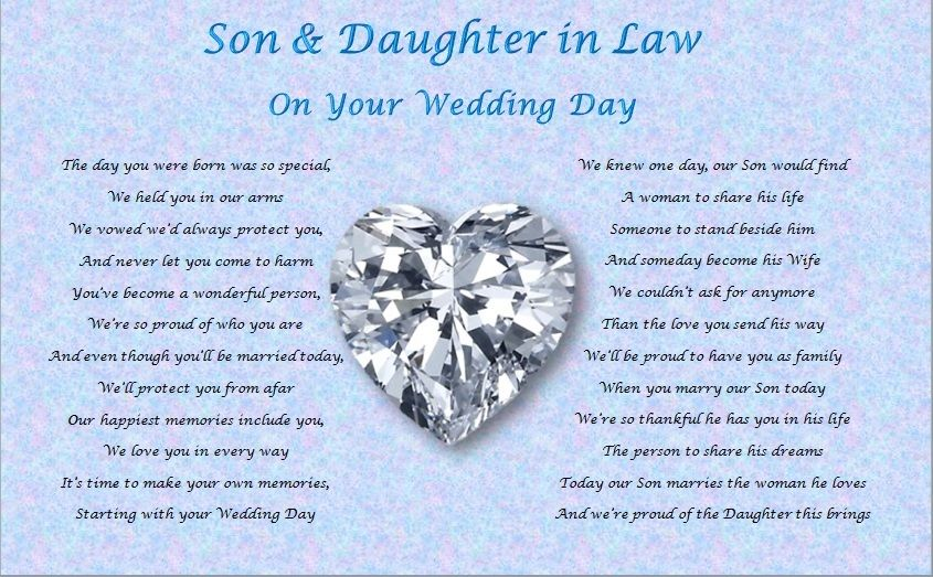 Wedding Anniversary Gift For Daughter And Son In Law : Marriage Anniversary Quotes For Daughter And Son In Law. QuotesGram