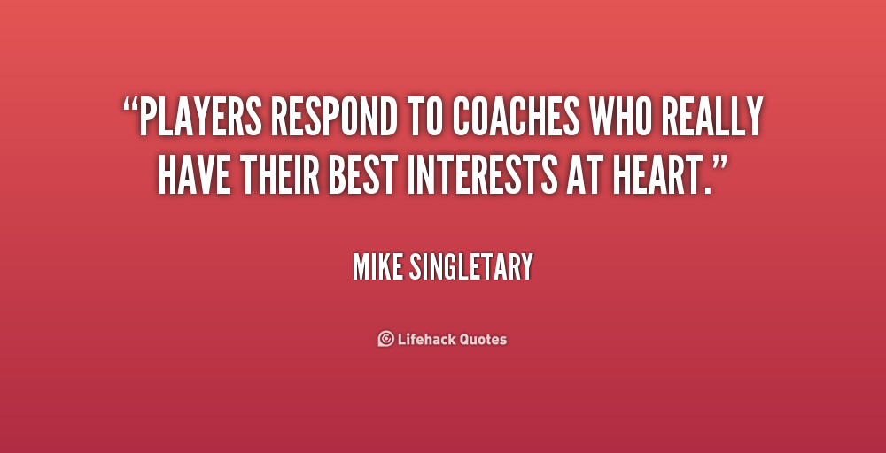 Quotes About Coaches And Players Quotesgram