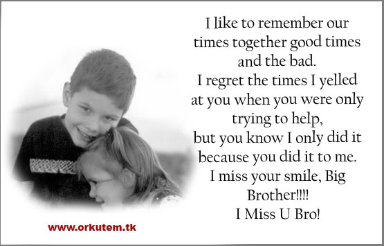 Miss My Brother Quotes Sayings