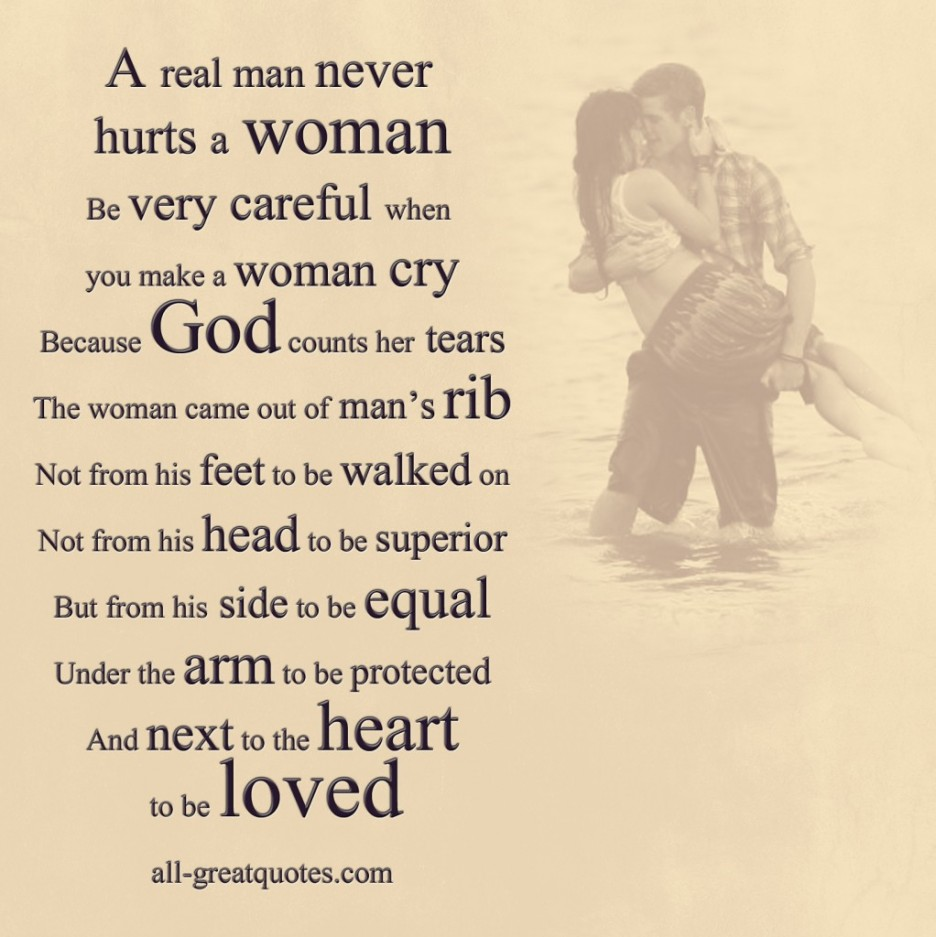 Man Loving A Woman Quotes: A Man Who Hits A Woman Quotes. QuotesGram