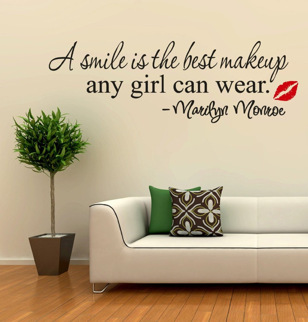 smile quotes wall stickers quotesgram