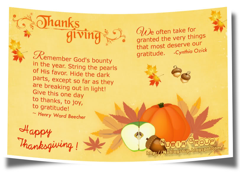 Thanksgiving Quotes For Cards Quotesgram