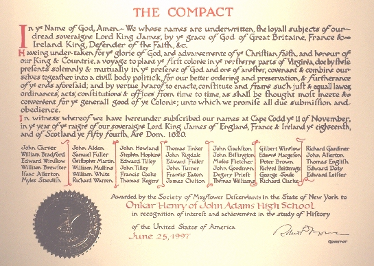 THE PILGRIMS OF PLYMOUTH COLONY, MASSACHUSETTS