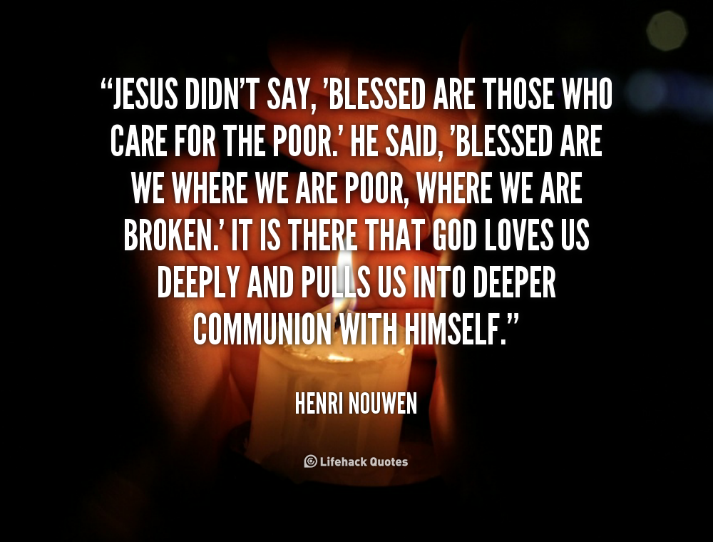 meet the needs of poor and needy god