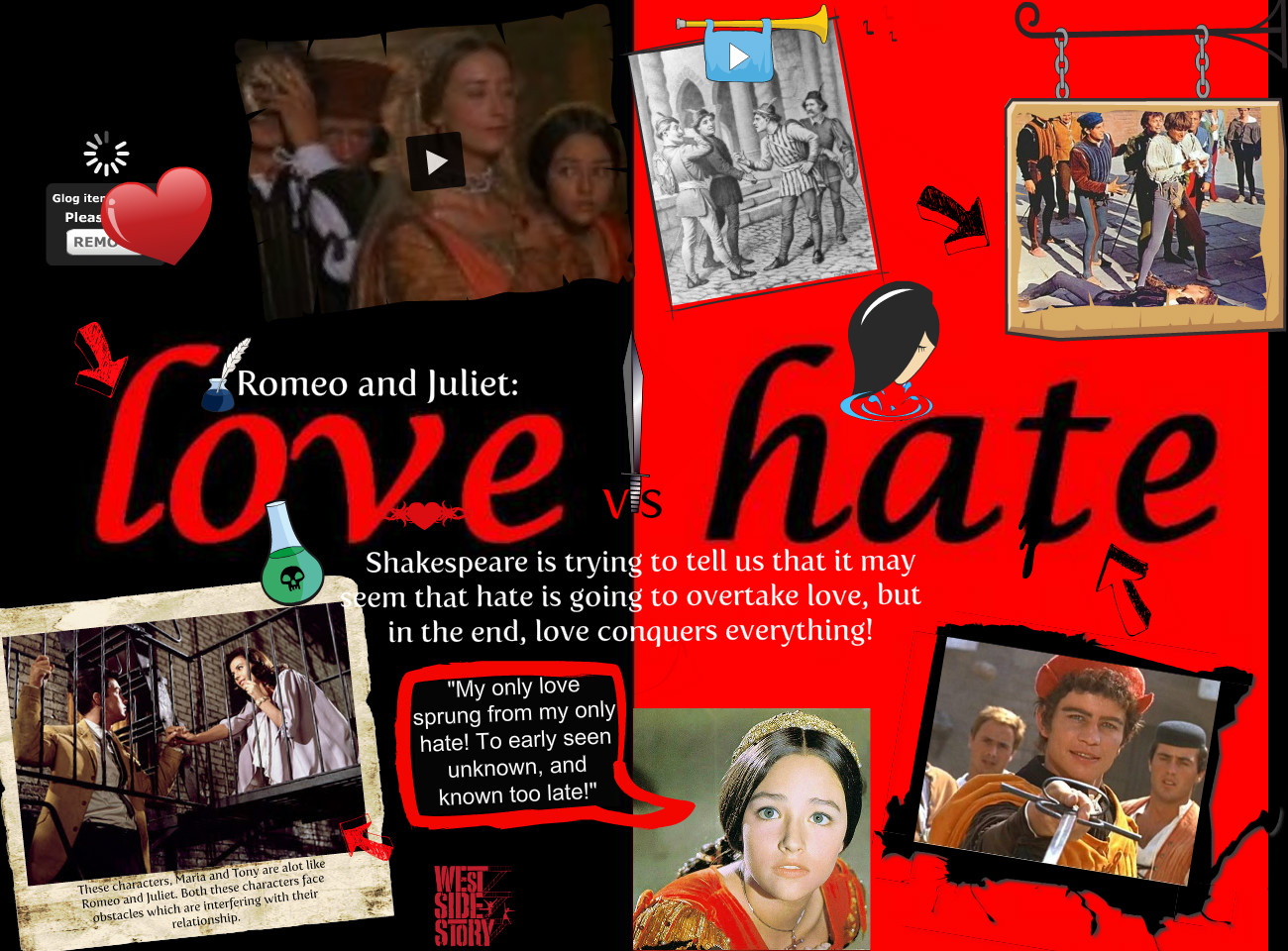 Romeo and juliet essays on love and hate