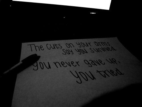 sad cutting quotes arm quotesgram