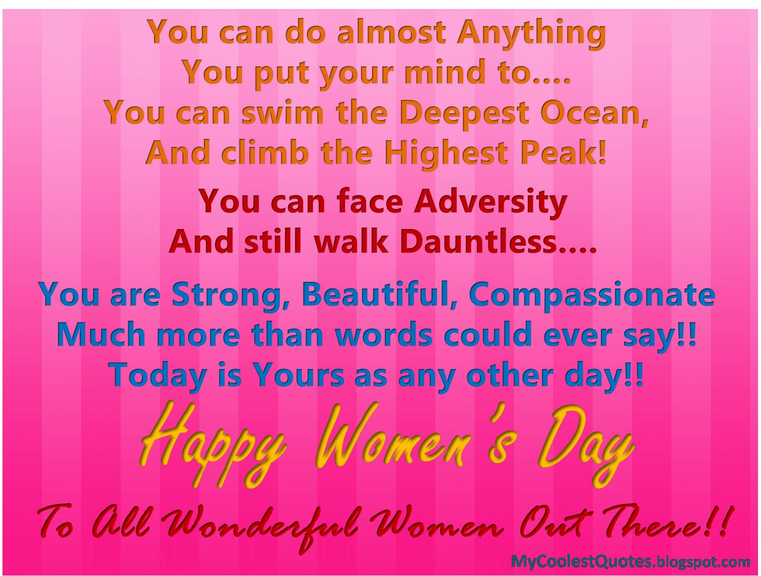Funny Quotes Womens Day. QuotesGram