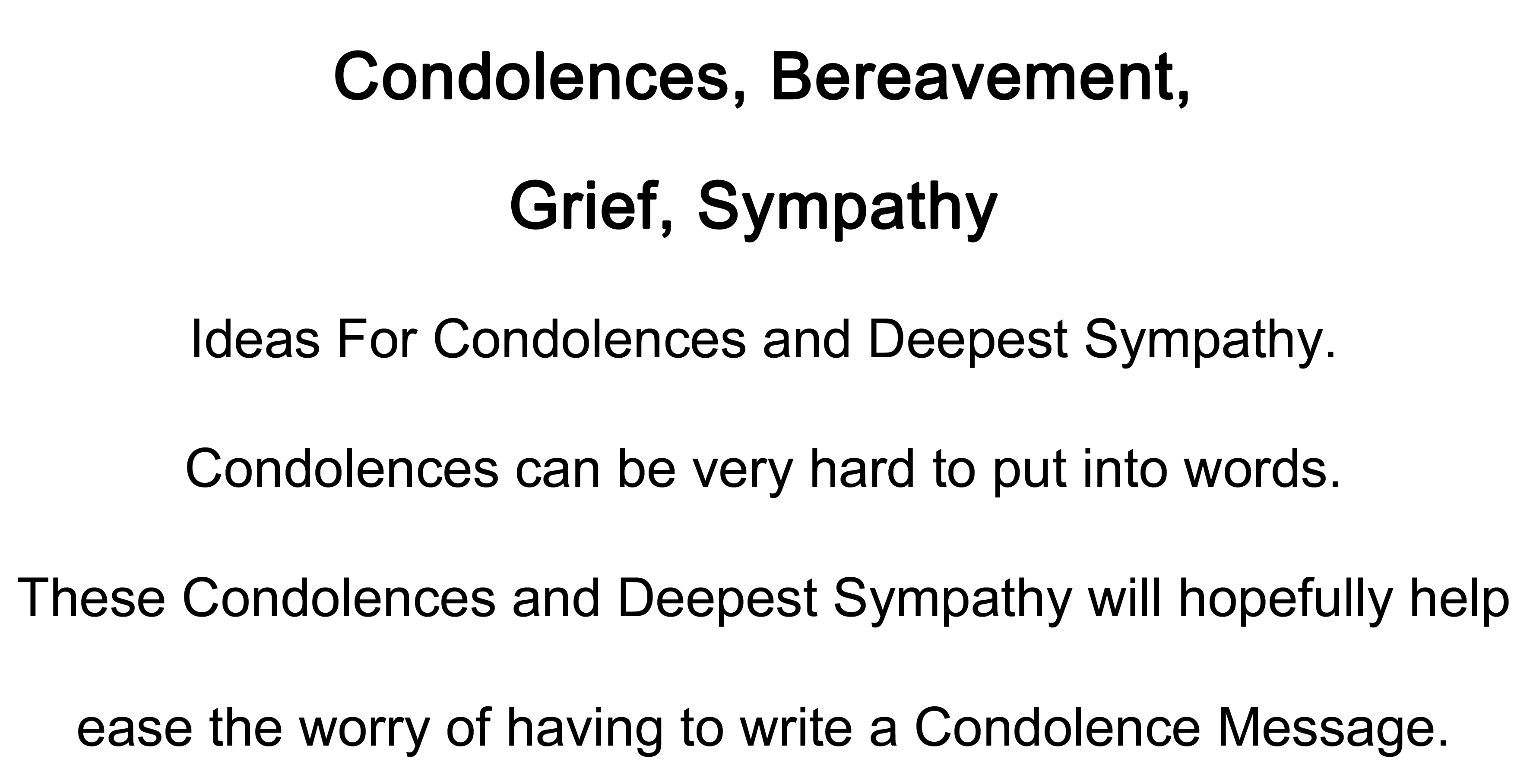 Clear thinking and writing answers to sympathy