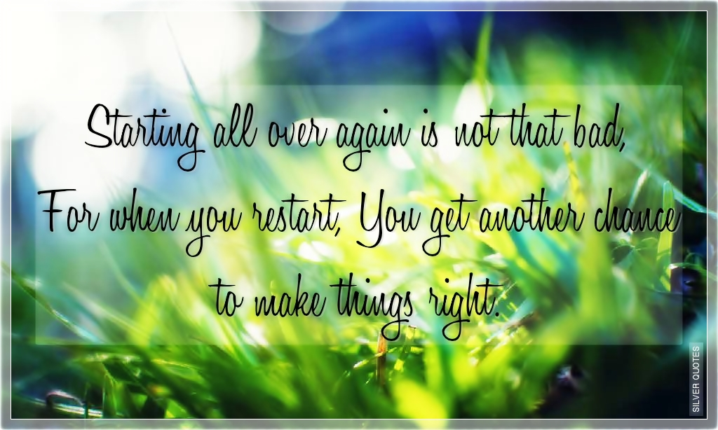 Starting Over Again Love Quotes. QuotesGram