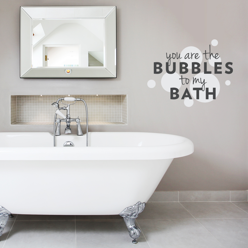 Bathtub Bubbles Bath Bathroom Vinyl Wall Art Sicker Decal