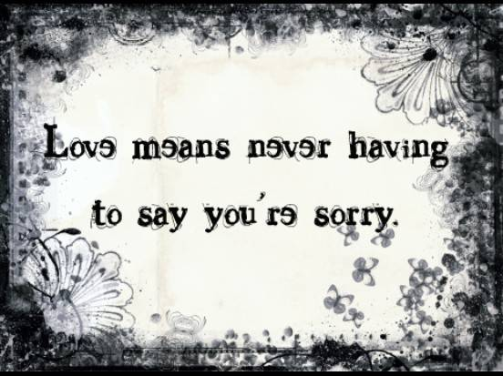 Sorry love your saying to Sorry Messages
