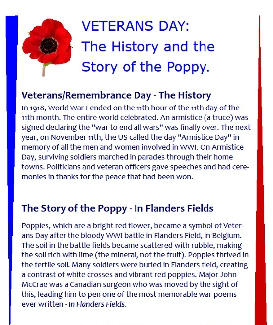 veterans time past essay samples