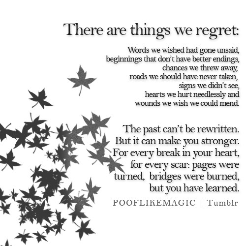 Quotes and sayings regret Regret Sayings
