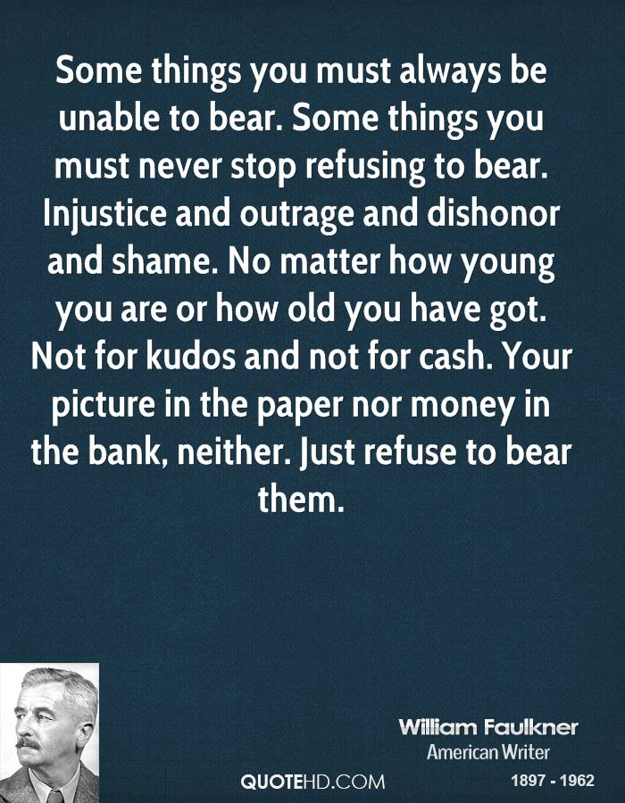 the bear by william faulkner Free summary and analysis of the bear in william faulkner's go down, moses  that won't make you snore we promise.