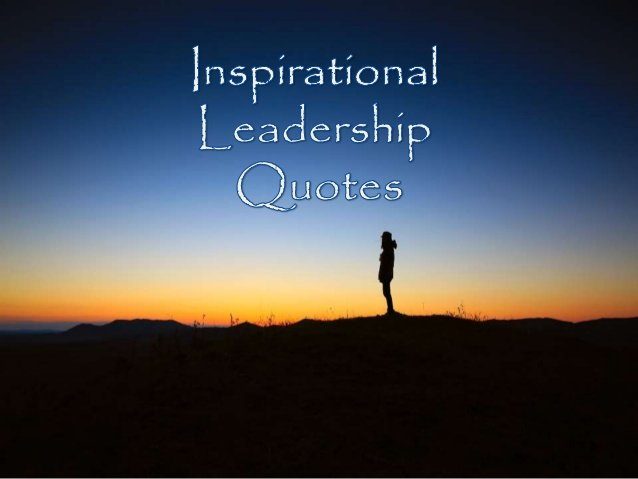 inspirational leader The five attributes of inspirational leaders is a series of posts highlighting the shared characteristics of inspirational leaders each post features one attribute of inspirational leaders and one leader who exemplifies it the five attributes are based on employee inputs and expert research.