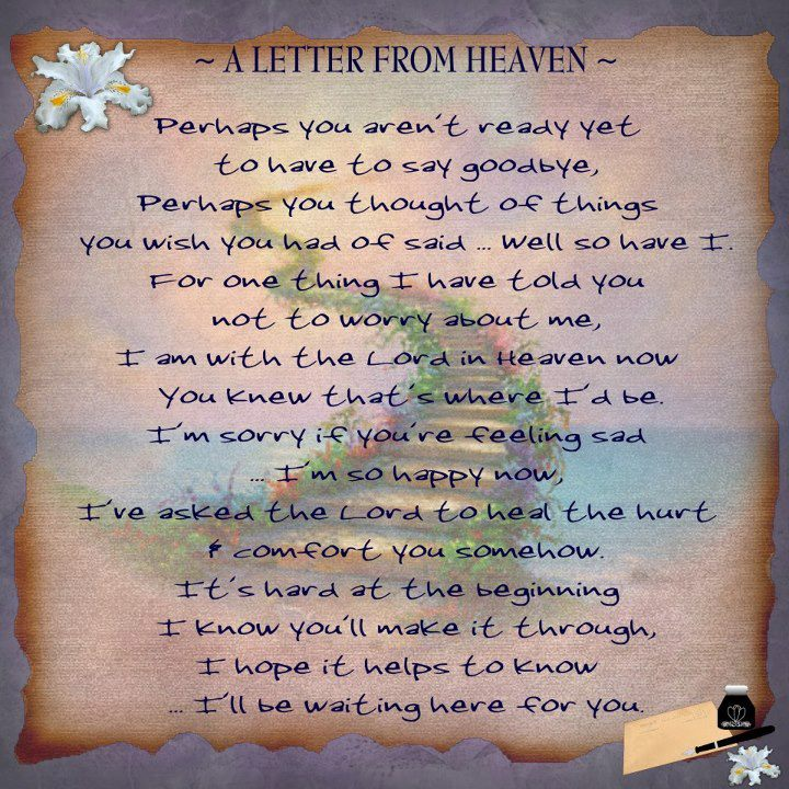 Saying goodbye to a loved one poem