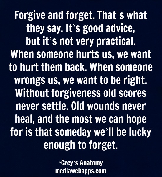 how to forgive and forget the past