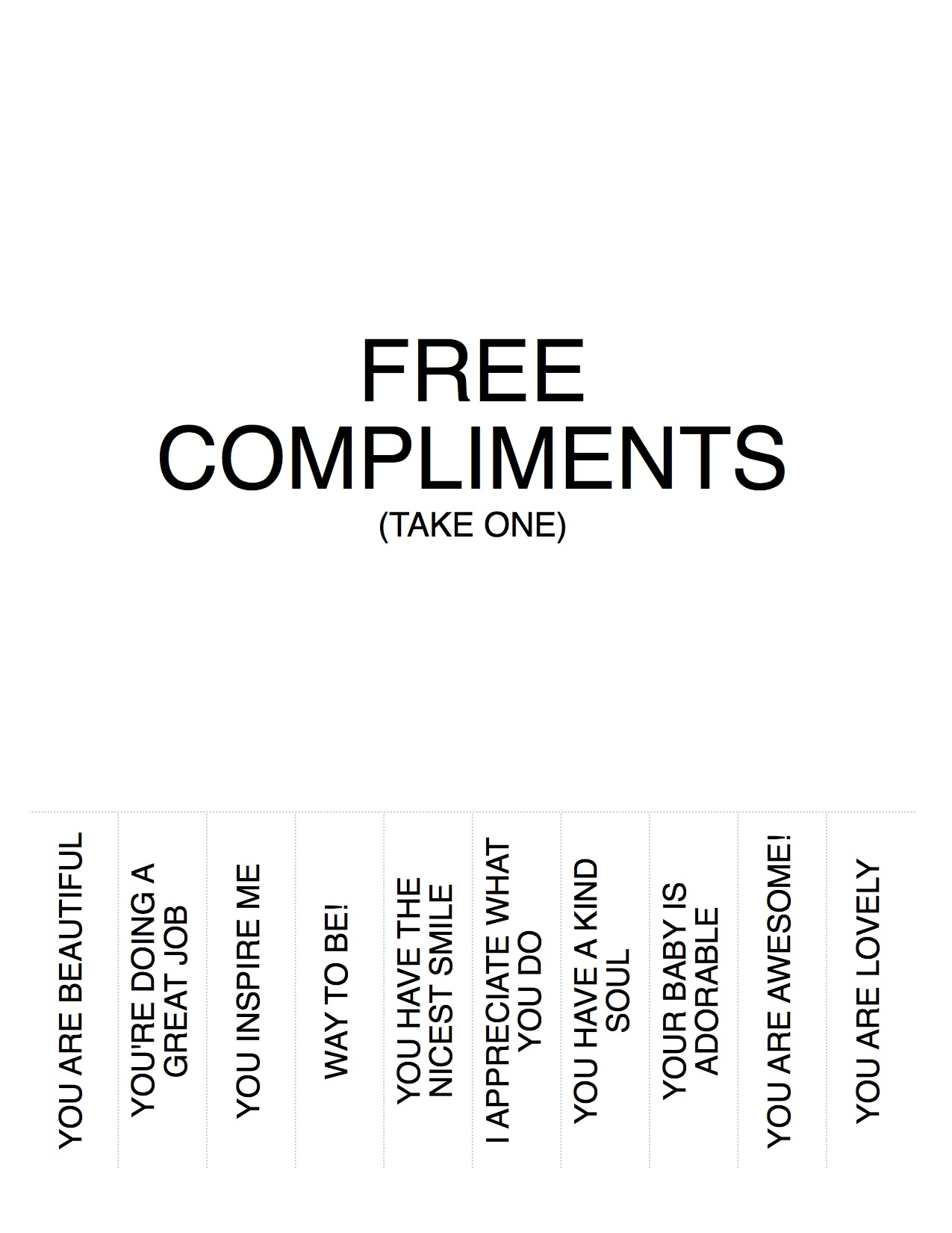 giving a girl compliments