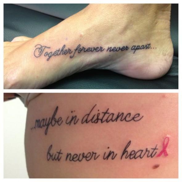 Couple Tattoos Quotes Quotesgram: To My Daughter Tattoo Quotes. QuotesGram
