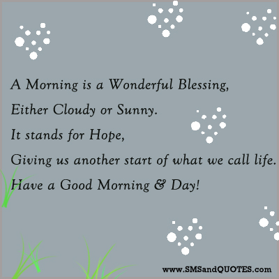 Good Morning Blessing Quotes Quotesgram