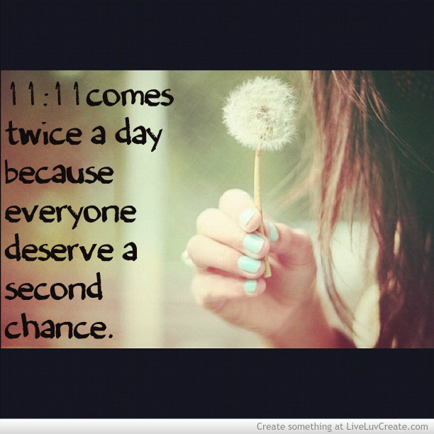 Everyone deserve a second chance quotes