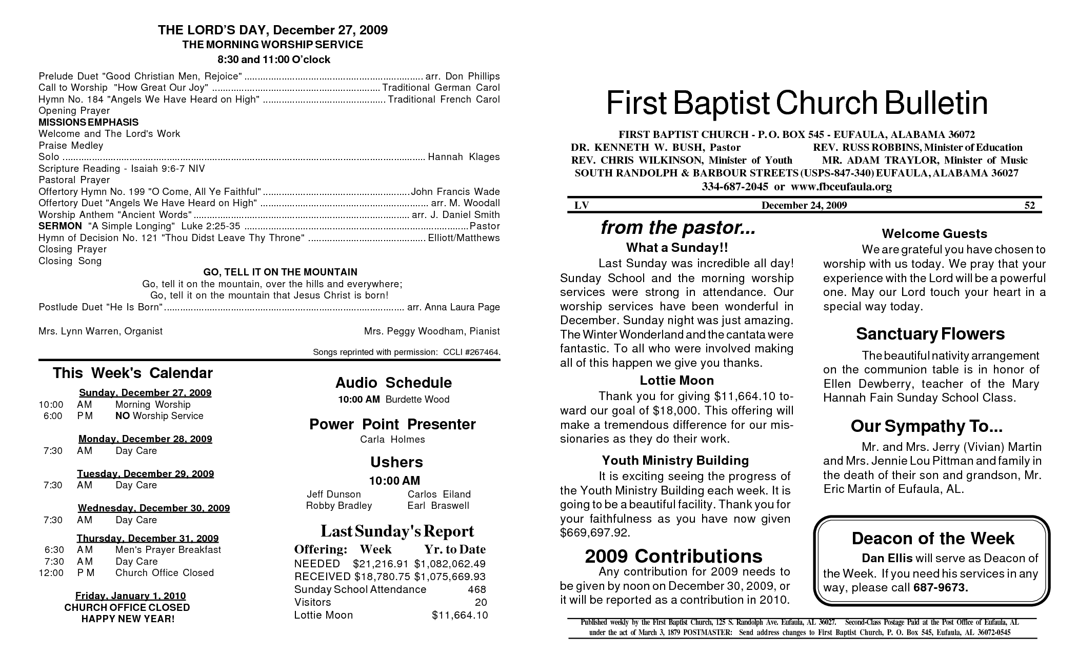 Baptist Church Bulletins For Quotes Quotesgram
