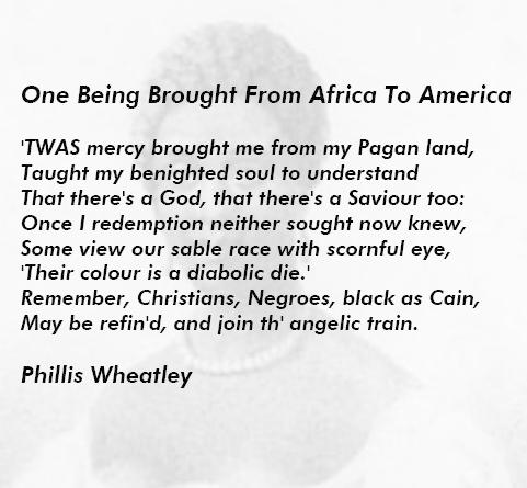 phillis wheatley thesis statement