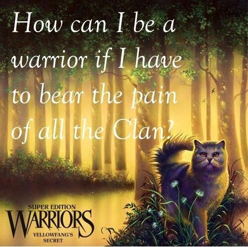 Warriors Books First Series: Warrior Cats Yellowfang Quotes. QuotesGram
