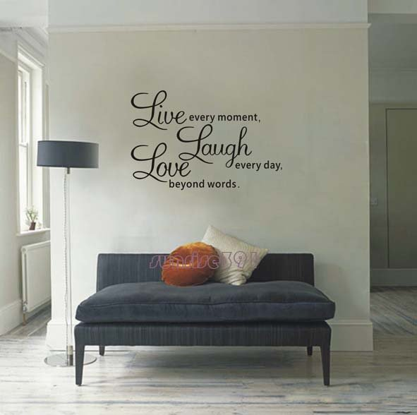 living room wall decal sayings living room wall quotes quotesgram 19066