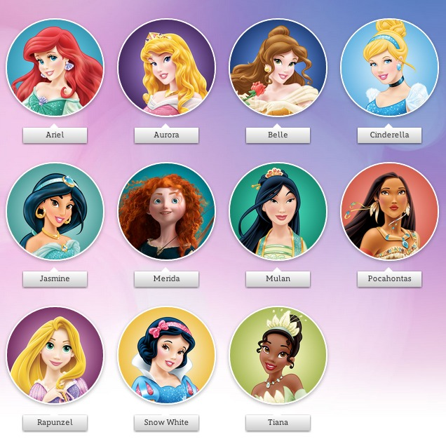 Disney Prinzessinnen Namen