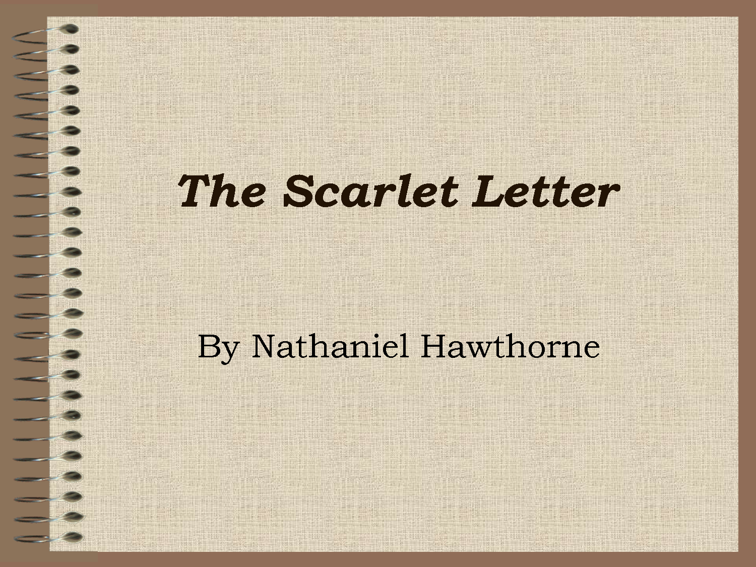 irony in scarlet letter Christian imagery in hawthorne's the scarlet letter in salem in 1692 also bears grim irony: introduces the scarlet letter with words that have the.