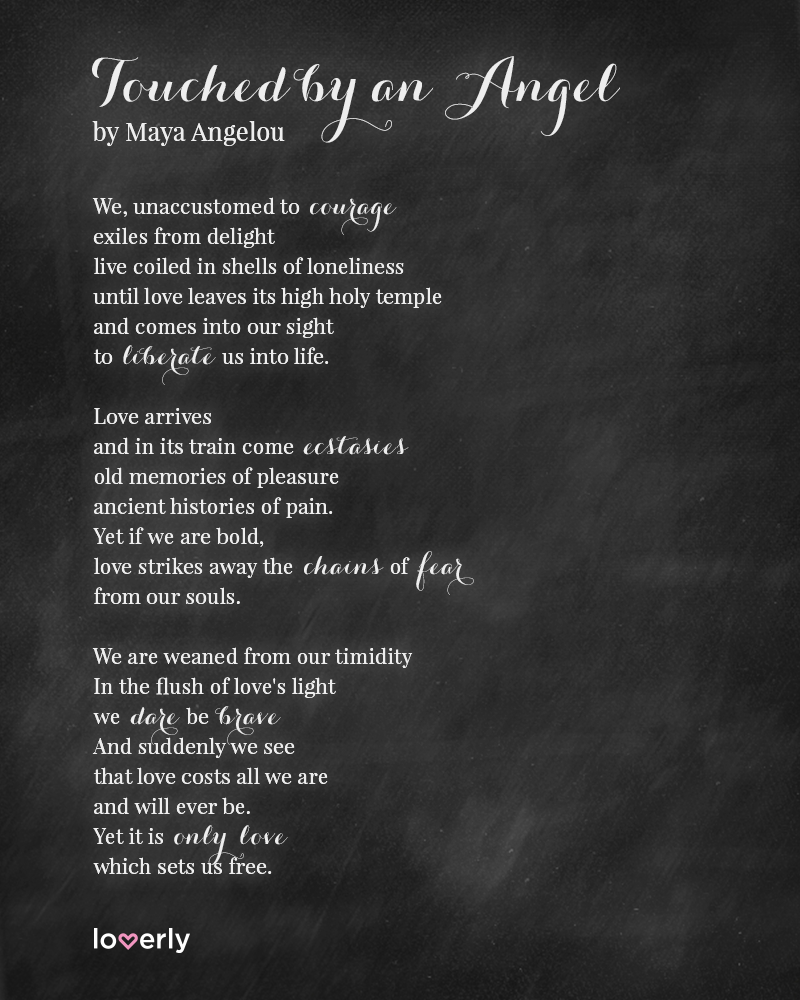 Motivational Poem About Love: Maya Angelou Poems And Quotes. QuotesGram