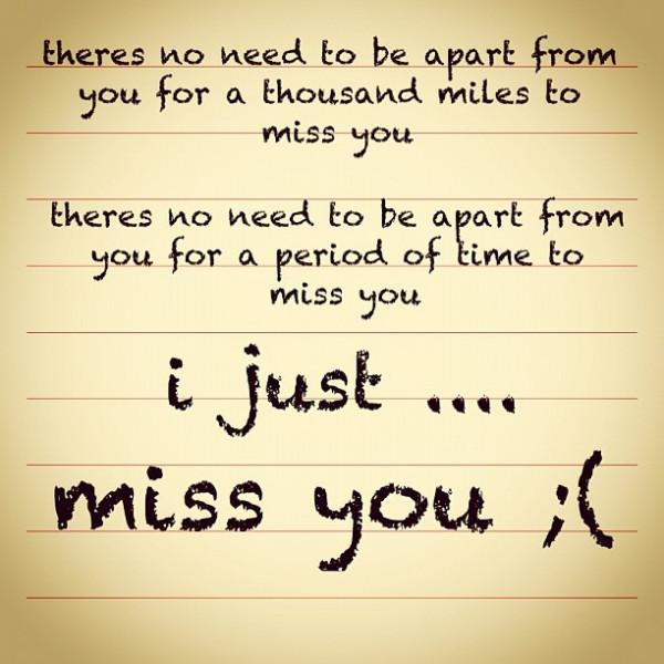 Messages for him missing you I'm Missing