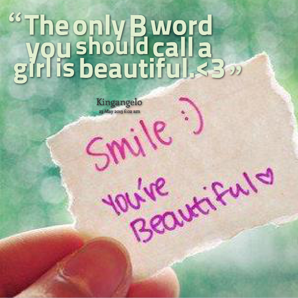 beautiful words to call a girl butterface