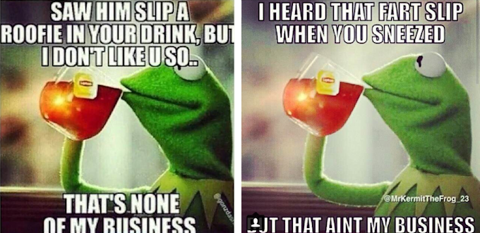 The Best Of The That S None Of My Business Kermit Meme: Kermit Tea None Of My Business Quotes. QuotesGram