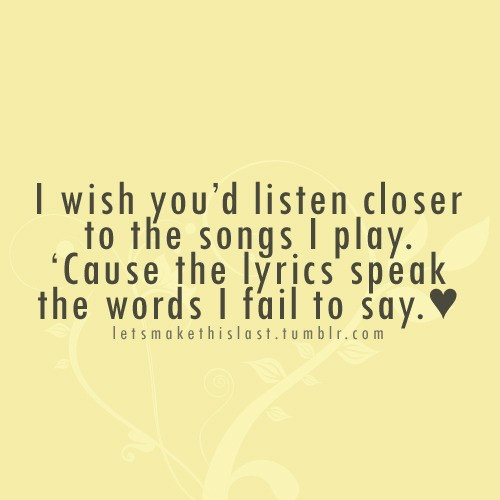 Love Quotes From Song Lyrics Quotesgram