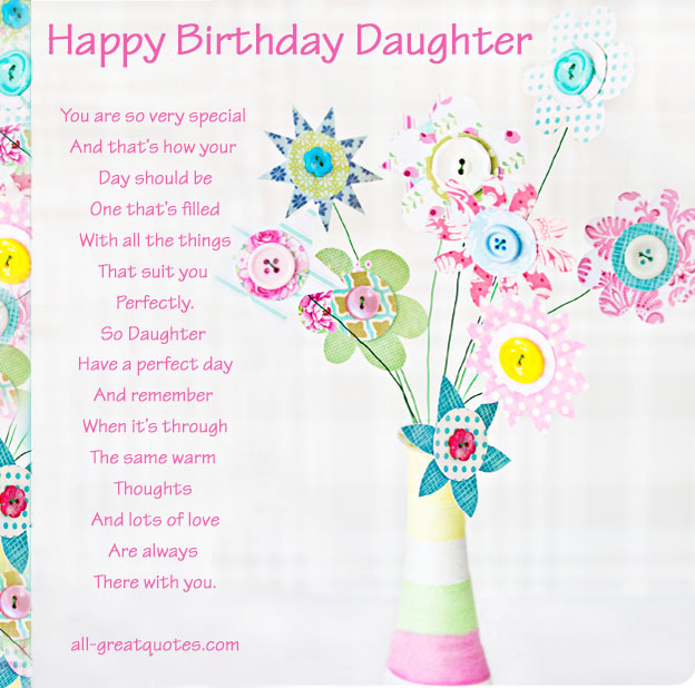 Free Birthday Cards For Daughter From Mom Cute Birthday Gift – Birthday Greeting Cards Daughter