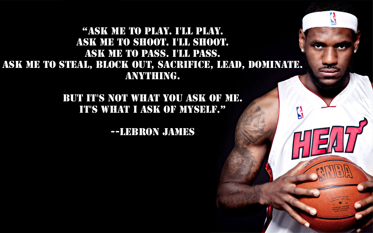 Famous Quotes From Lebron James. QuotesGram