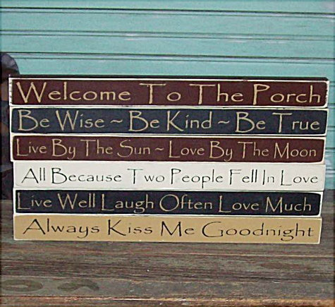 Home Decor Long Wood Signs With Sayings