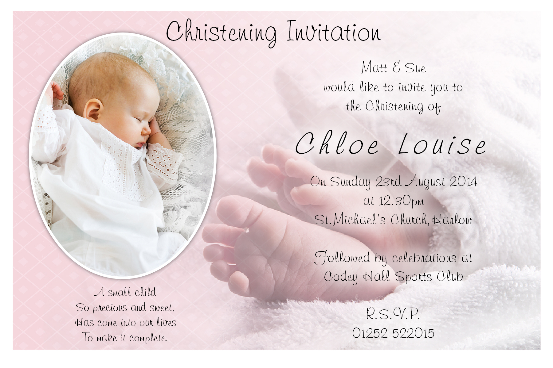 Baptism Invitation Sayings for good invitations template