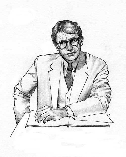 atticus finch character sketch