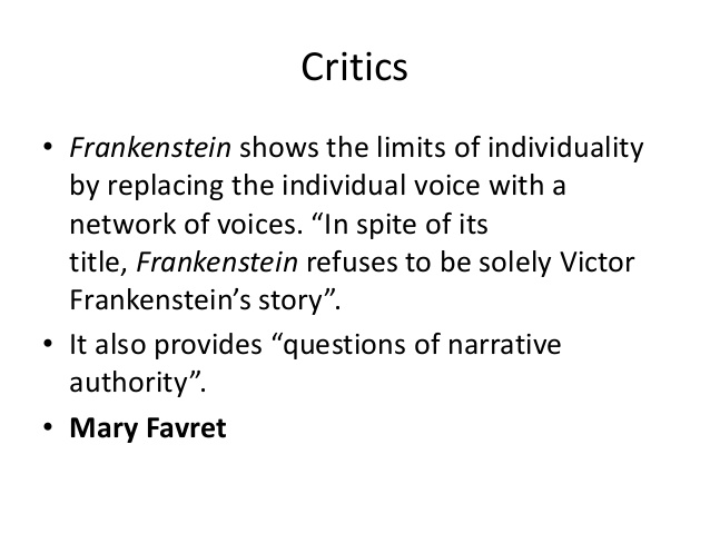 frankenstein technology thesis Frankenstein project instructions: write a 4-6 page thematic essay on one of the following topics refer to the guidelines for humanities.