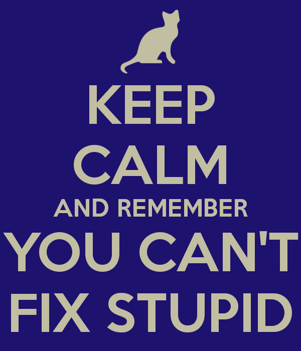 You Cant Fix Stupid Quotes. QuotesGram