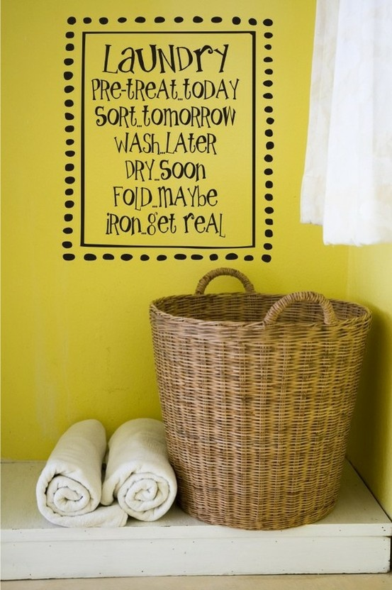 Laundry Room Quotes For Walls Quotesgram