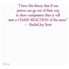 rachels scotts essay My ethics, my codes of life rachel scott period 5 ethics vary with environment, circumstances, and culture in my own lifes ethics play a major role.