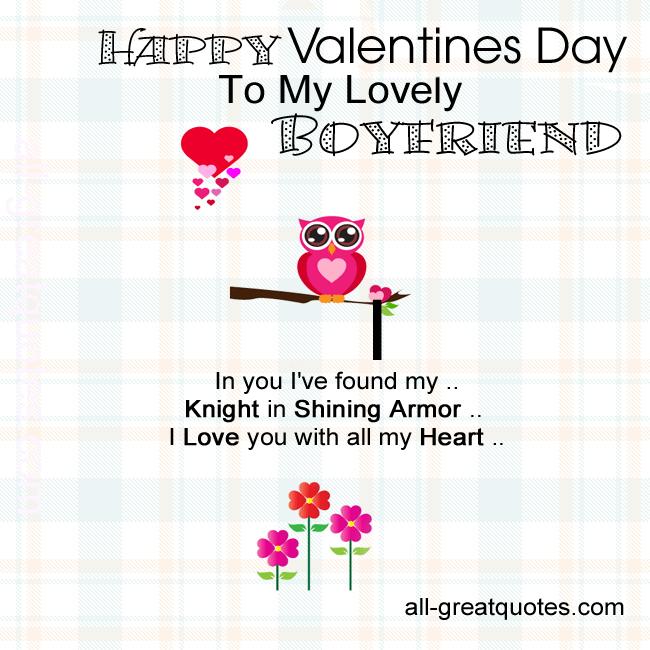 Boyfriend Quotes For Valentines Day: Happy Valentines Quotes Boyfriend. QuotesGram