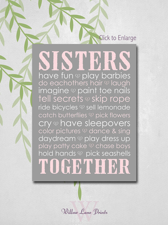 Wall Art Quotes For Sisters : Framed wall art quotes sisters quotesgram