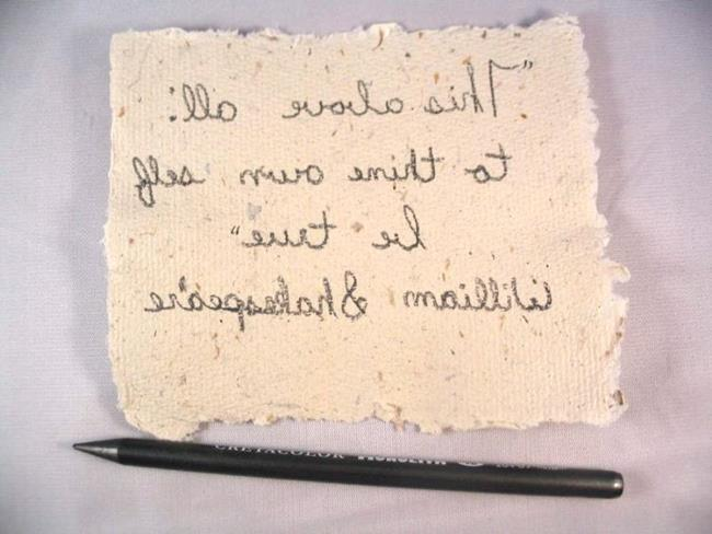 Quotes written on paper